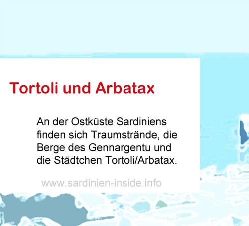 Arbatax-Tortoli-Sardinien