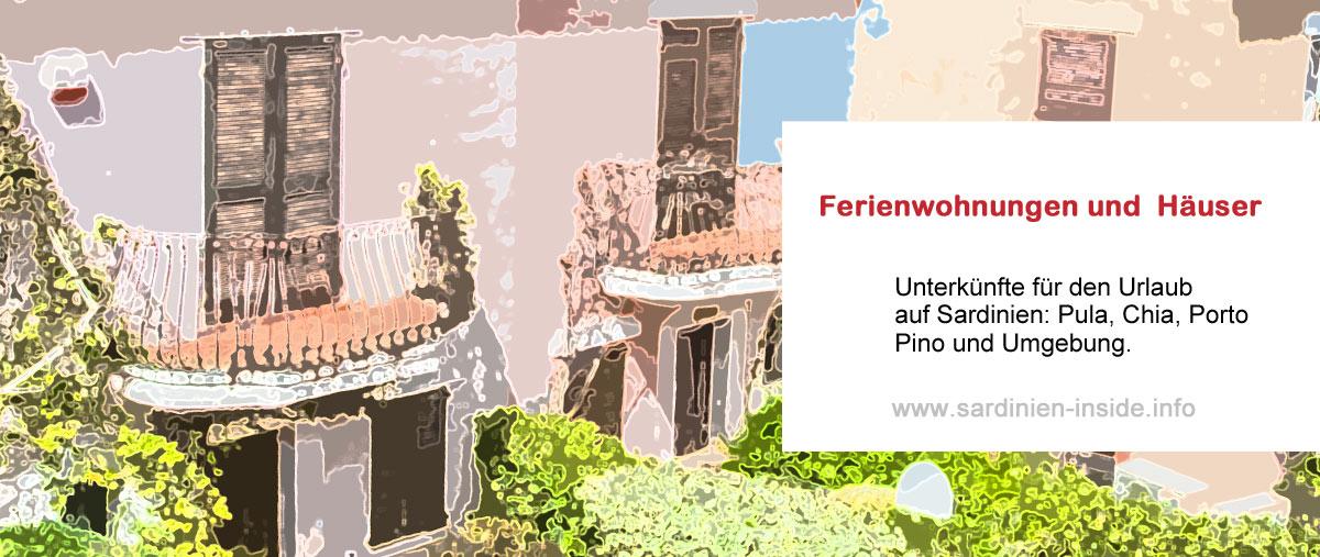 Ferienwohnungen-Ferienhäuser-Pula-Chia-Sardinien