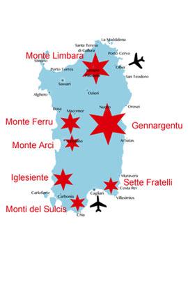 Berge-Sardinien