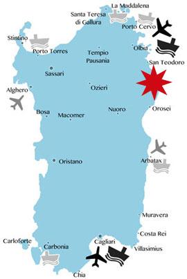 Lage-Karte-La-Caletta-Sardinien