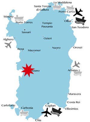 Lage-Karte-Sardinien-Oristano