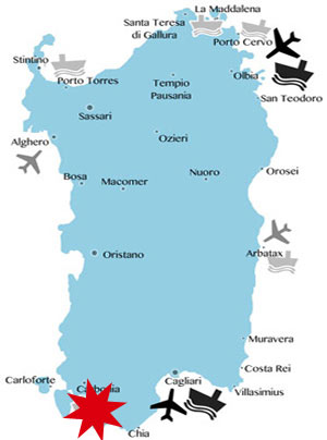 Lage-Karte-Sardinien-Südwesten
