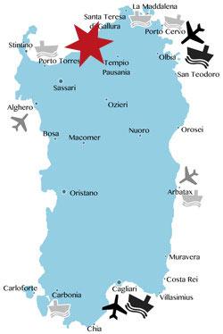 Lage-Karte-Isola-Rossa-Sardinien