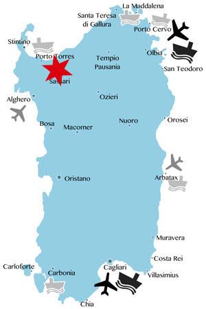 Lage-Karte-Sardinien-Sassari