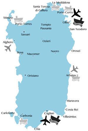 Karte Sardinien Strände.Strände Auf Sardinien Www Sardinien Inside Info